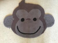 Brown monkey rug from next