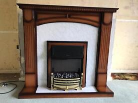 Electric Fire and Mahogany Surround