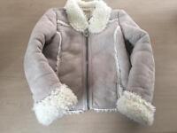 "Gorgeous faux ""sheepskin"" jacket girls 8-9"