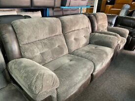 NEW - EX DISPLAY LAZYBOY GREY PEGASUS 3 + 1 SEATER ELECTRIC RECLINER SOFAS 70%Off RRP
