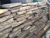Free to collect crazy paving and patio slabs