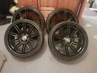 "Bmw mv4 19"" alloy wheels replicas"