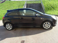 AUXHALL CORSA 1.4 DESIGN 16V 3d AUTO 90 BHP HALF LEATHER** PRIVA (black) 2007