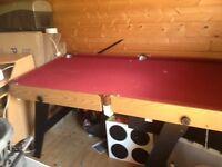 Pool table folding