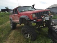trade jeep cherokee on 40s for quad or side by side