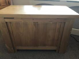 Solid oak toy box