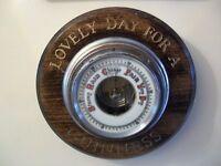 antique guinness barometer