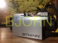2 LEFT IN LONDON - Bitmain Antminer S9 14TH/s Bitcoin BTC BCH miner