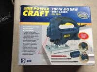 New Unused Powercraft PS-750L Jigsaw with laser