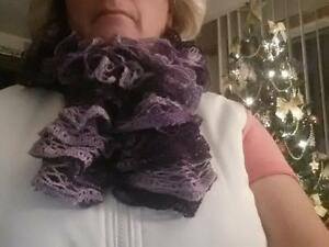 Purple Ruffle Scarf