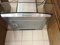 VERY GOOD CONDITION: SIA CPLE61SS 60cm 3 Colour LED Stainless Steel Cooker Hood Extractor Fan