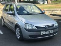 2003 VAUXHALL CORSA 1.2 SXI *PETROL* 5 DOOR * MOT * CHEAP INSURANCE *MOT * IDEAL FIRST CAR