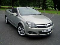 2007 Vauxhall Astra Twin Top Turbo. 47000 Miles. Service History. Mot May 2018. Convertible.