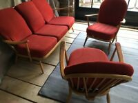 Original 1960's Ercol 3 piece suite