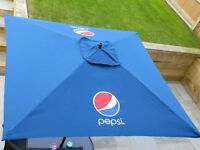 *Brand New* Blue Pepsi Garden Table Parasol - Wooden structure