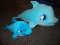 Blu Blu The Baby Dolphin Interactive Plush Toy with Sound