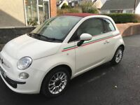 Convertible Fiat 500 for sale. 49950 miles. 1 owner.