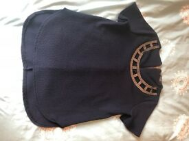 Dark Blue / Navy Quiz Top Size 8
