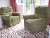 Two matching armchairs – little use – clean condition
