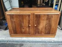 Retro wooden mid century sideboard/tv stand, bargain free delivery