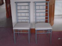 PAIR OF MATCHING DINING CHAIRS GOOD CONDITION
