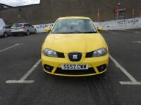 2007 SEAT IBIZA 1.2 FULL SERVICE HISTORY,FULL YEAR MOT,DRIVE SPOT ON