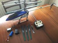 """Powerful RC Helicopter with lights. GT QS8005 42"""", Two-Speed 3CH"""