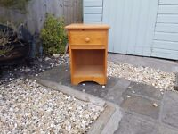 bed side Cabinet .one or to marks nothing bad tho.can be painted.