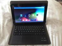 """10"""" tablet with wireless keyboard"""