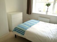 Large bright double room in a clean quiet apartment - good transport links w/parking