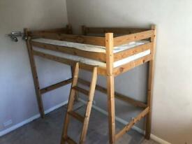 High Sleeper Single Wooden Bed Frame