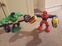Boxing hulk and Spider-Man