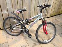 "Mountain bike teenager Raleigh Aluminium ZeroG, 24""wheels"