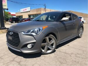 2014 Hyundai Veloster Turbo NAVIGATION SUNROOF LEATHER MATTE PAI