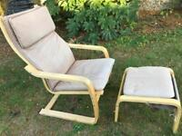 IKEA Relax Chair and Stool