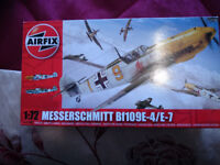 AIRFIX KIT 1-72 MESSERSCHMITT 109 WW2 FIGHTER WITH CEMENT
