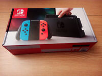 Nintendo Switch Neon Blue/Red - brand new