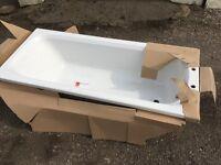 White acrylic bath, size 1600long x 700 wide