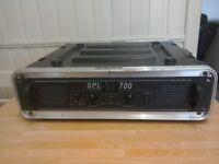 SPL 700. Power amplifier with flight case.