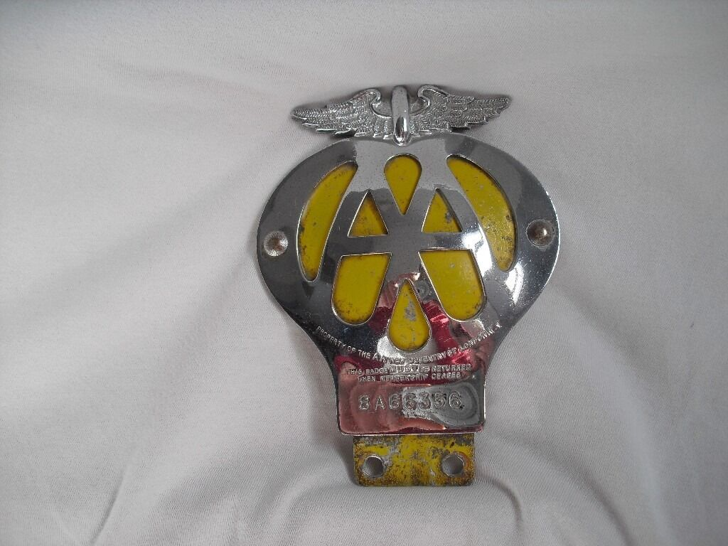 1950/60 AA Car badge , Morris, Austin,Mini, Ford, Shell,Castrol,Champion,Michelin,RAC