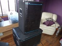 Peavey Hisys 3 pa system complete with amps ready to use