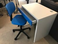 Childrens desk and chair - Ikea MICKE range