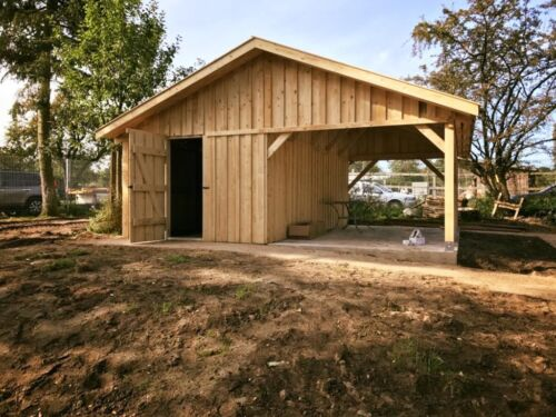 holz garage carport 6x6m inkl montage in herzogtum lauenburg geesthacht ebay kleinanzeigen. Black Bedroom Furniture Sets. Home Design Ideas