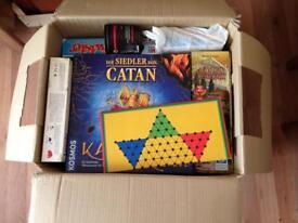 Box full of board games