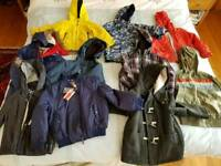 Lot of 10 used boy jackets/coat
