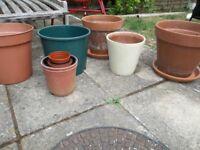 Plant Pots - Terracotta & Plastic large plant pots