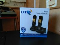 BT1200 Nuisance Call Blocker Digital Cordless Twin Handset Phone. As new.