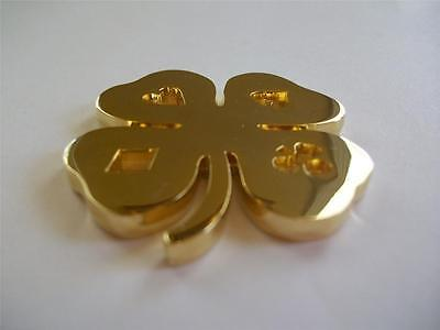 Gold Lucky Four Leaf Clover Suited Heavy Poker Card Guard Hand Protector NEW