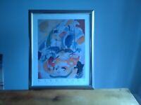 WASSILY KANDINSKY, 31 SEA BATTLE FRAMED PICTURE PURCHASED KING&MCGAW £150.00