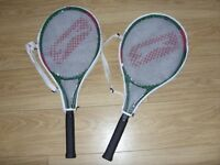 2 x Slazenger Classic 27 Tennis Rackets / Racquets - Full Size - New / Unused